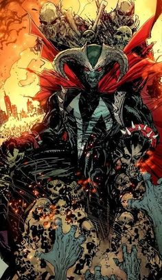 Omega Spawn on throne Comic Book Characters, Comic Book Heroes, Marvel Heroes, Comic Character, Comic Books Art, Comic Art, Spawn Comics, Anime Comics, Image Comics
