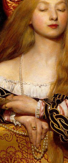 'Vanity', 1907, detail by Frank Cadogan Cowper ~ English, 1877-1958).