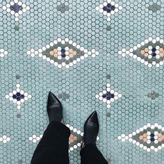 Is it just me, or do you also see crocodile eyes in this stunning floor? Photo by Crocodile Eyes, Just Me, I Am Happy, Lily, Kids Rugs, Floors, Blues, Instagram, Master Bath