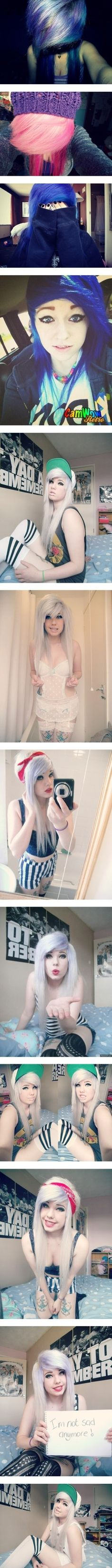 Beautiful Girls and Emo Girls 3 by hosenm ❤ liked on Polyvore
