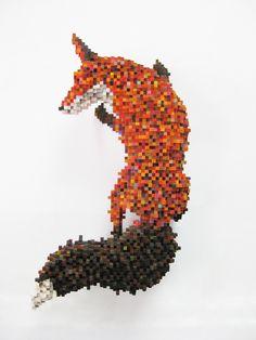 Shawn Smith Pixel Sculptures - Skulk