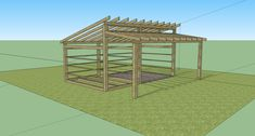 Modern Shed Roof Horse Barn with tack room 20x18