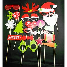 27 PCS Card Paper Photo Booth Props Party Fun Favor (Including Sticks and Glue) for Christmas 2015 – $4.74