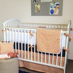 navy and orange nursery - Google Search