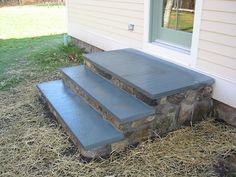 how to build back door steps