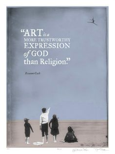 Limited edition poster with quote on art versus religion.  - Rosanne Cash $75