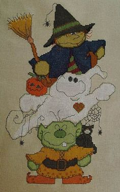 Blight Broomhilda & Booz - Cross Stitch Pattern