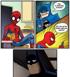 Funny spiderman and batman scene... - Imgur