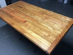 This is freshly stained.  Used Minwax Gunstock oak and Golden oak to give the wood more depth
