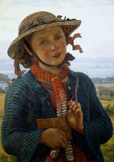 The School-Girl's Hymn  William Holman Hunt - 1859  Painting - oil on panel  Ashmolean Museum - Oxford (England)