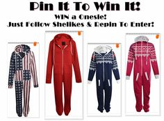 Follow Shelikes and Repin to WIN a Onesie in any colour and style! ♥