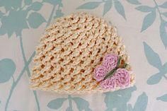 Preemie Crossed Texture Hat free crochet pattern - 40dc