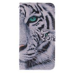 hoge kwaliteit fashion design coco fun® witte tijger patroon pu lederen portemonnee geval voor Samsung Galaxy S5 i9600 – EUR € 9.99