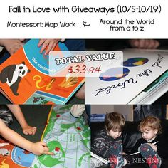 We're participating in the Fall in Love with Giveaways Blog hop! We've been focusing on geography and now you have a chance to win TWO geography books for your preschooler. Head over to the blog to enter! Link on profile. #giveaway #preschoolathome #homeschool #homeschoolpreschool #homeschoolgeography #montessorigeography #montessori #montessorihomeschool #newblogpost #homeschoolgiveaway #fallinlovewithgiveaways #learningathome #homelearning #learningandnesting by learningandnesting