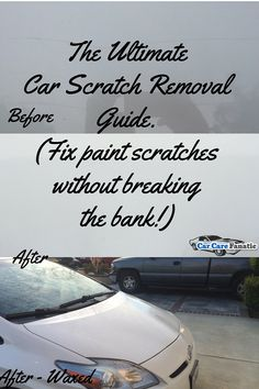 The ultimate car scratch remover guide. Fix paint scratches without breaking the bank!  Learn how to remove car scratches from your paint and make it shine like new!  DIY without having to pay a professional automotive detailer!   http://www.carcarefanatic.com/ultimate-car-scratch-remover-guide/