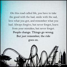 On this road of life...