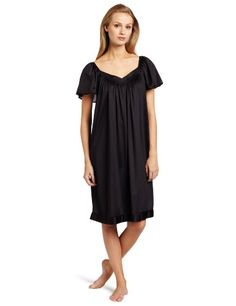 ccb2990f7e5 Vanity Fair Womens Coloratura Sleepwear Short Flutter Sleeve Gown 30109  Midnight Black 2X   Check out