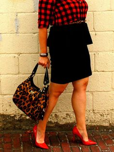 In Kinsey's Closet | Pattern mixing buffalo plaid and leopard