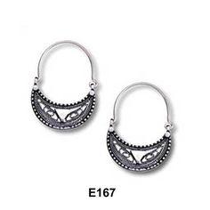Handmade 925 silver ethnic filigree earrings.