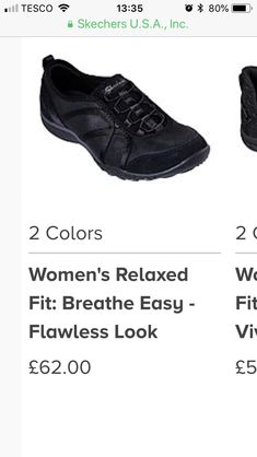 Skechers Work Shoes, Breathe Easy, All Black Sneakers, Fitness, Color, Women, Fashion, Moda, Fashion Styles
