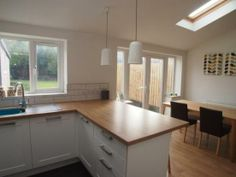3 bedroom semi-detached house for sale in Parkside Crescent, Meanwood, Leeds, Small Open Plan Kitchens, Open Plan Kitchen Dining Living, Kitchen Diner Extension, Open Plan Kitchen Diner, Kitchen Design Open, Living Room Kitchen, Home Decor Kitchen, Kitchen Interior, Cocinas Kitchen