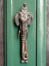 Indian elephant door knocker