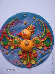 Painting mural drawing Craft Applique product of plasticine + reverse Modeling Clay Quartet + 4 photos