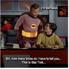 """Captain Kirk is going to Comicon.  """"One to beem down!"""""""