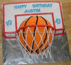 Not what I was thinking for a basketball cake, but I may reconsider.  So cute.