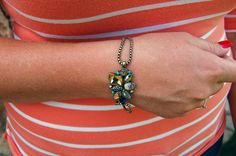 Peacock Inspired Bracelet / Tara Lynn's Boutique