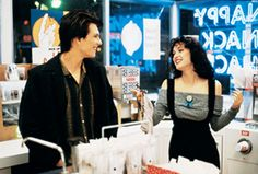"""Christian Slater and Winona Ryder in """"Heathers"""""""