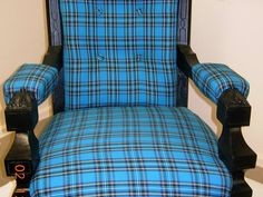 Tartan throne chair