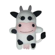 Hand Stitched Felt Cow Doll  Clarabell by FeltLikeStitchin on Etsy, £11.00