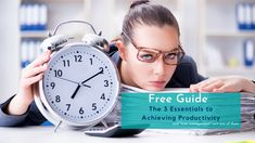 """3 Core Essentials to Getting & Staying Productive Without Relying on Your Time Management """"Skills""""! This FREE guide is a personal mini training by way of your very own workbook. It reveals just what the 3 Core Essentials busy women in business need in order to mean business when it comes to getting things done. And not just done, but the right things at the right time! Getting Things Done, Cool Things To Make, Things To Come, Time Management Skills, Prioritize, The Only Way, Live For Yourself, You Can Do, Business Women"""