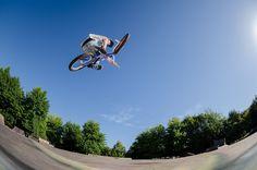Very high BMX jump