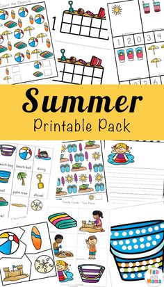 Free Printable Summer Kids Activities for children to do at home or on the go - Fun with Mama #summer #kids #free #printables #activities #preschool #homeschool