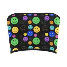 Smiley Face Bandeau Top | EDM Festival Fashion | BigTexFunkadelic    #BigTexfunkadelic #edc #edm #ravewear #bandeautop #neon #style #summer #smile Bandeau Tops, Festival Fashion, Smiley, Edm, Cool Designs, Face, Womens Fashion, Bandeaus, The Face