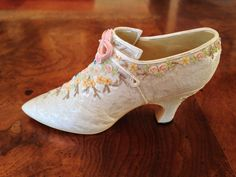 Nostalgia If The Shoe Fits French Victorian Porcelain Shoe