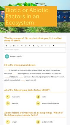 ecology biotic and abiotic factors worksheet google search environmental science pinterest. Black Bedroom Furniture Sets. Home Design Ideas