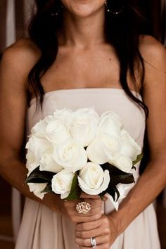 #Roses - This bloom is classic, romantic, and versatile, too — it comes in endless varieties and pairs beautifully with just about every type of flower. {Christine Chang Photography}