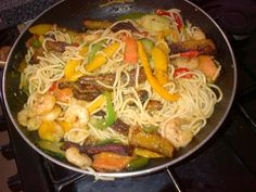 Spaghetti And Plantain Stir Fry