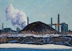 Winter Landscape | Great Lakes Steel plant on Zug Island in the Detroit River