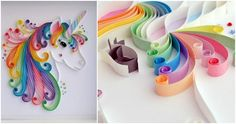 Totally majestic unicorn from paper quilling