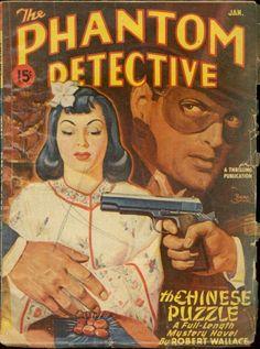 The Phantom Detective, January 1947 Crime Fiction, Pulp Fiction, Romance Comics, Phantom, Pulp Magazine, Classic Comics, Detective Comics, Pulp Art, Paperback Books