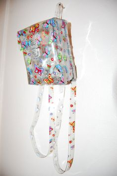 90s Clear Plastic Jelly Square Mini Purse by AfterDarkVintage, $60.00