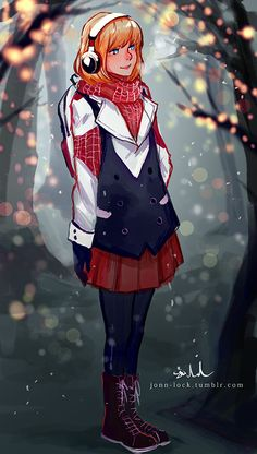 Gwen Stacy: Winter by Jon-Lock on DeviantArt