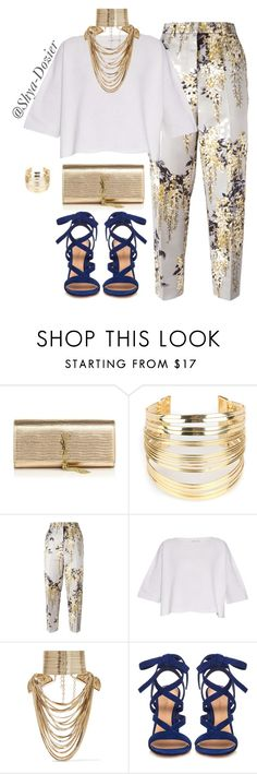 #1 Spring/Summer by shya-dozier on Polyvore featuring Helmut Lang, Rochas, Gianvito Rossi, Yves Saint Laurent, Rosantica, WithChic, women's clothing, women's fashion, women and female
