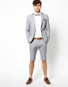 grey mens beach wedding suits and shorts - Google Search