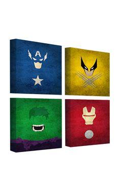 Superhero paintings! LOOOOOOVE!!!!