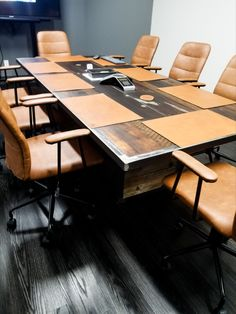 How amazing does this MWID custom industrial conference table look in it's new space? We collaborated with this corporation on design and vision. She's perfect!
